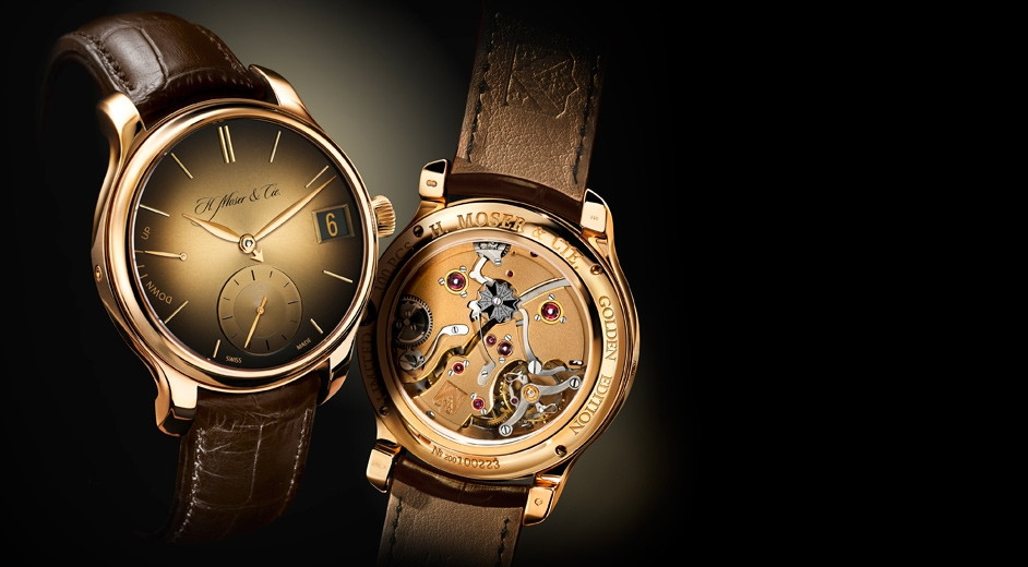 fabulous solid gold from luxury swiss brand moser