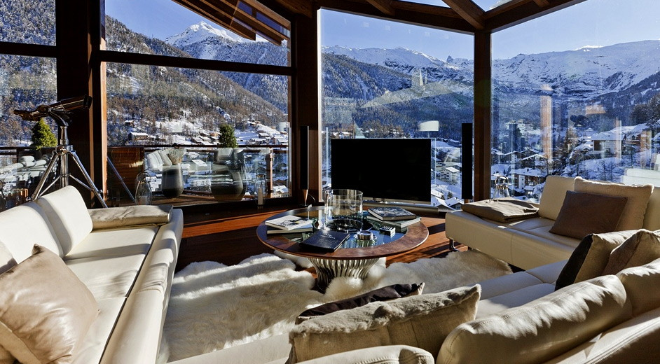 Location chalet de luxe en suisse chalet zermatt peak for Living room hike