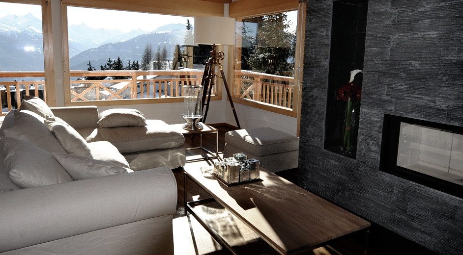design ferienhaus crans montana renard perfekter mix aus stil gem tlichke. Black Bedroom Furniture Sets. Home Design Ideas