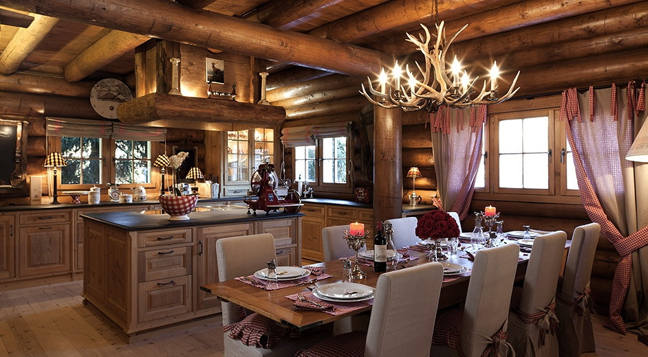Luxury ski chalet for rent in davos with lakeview near the for Interni di case classiche