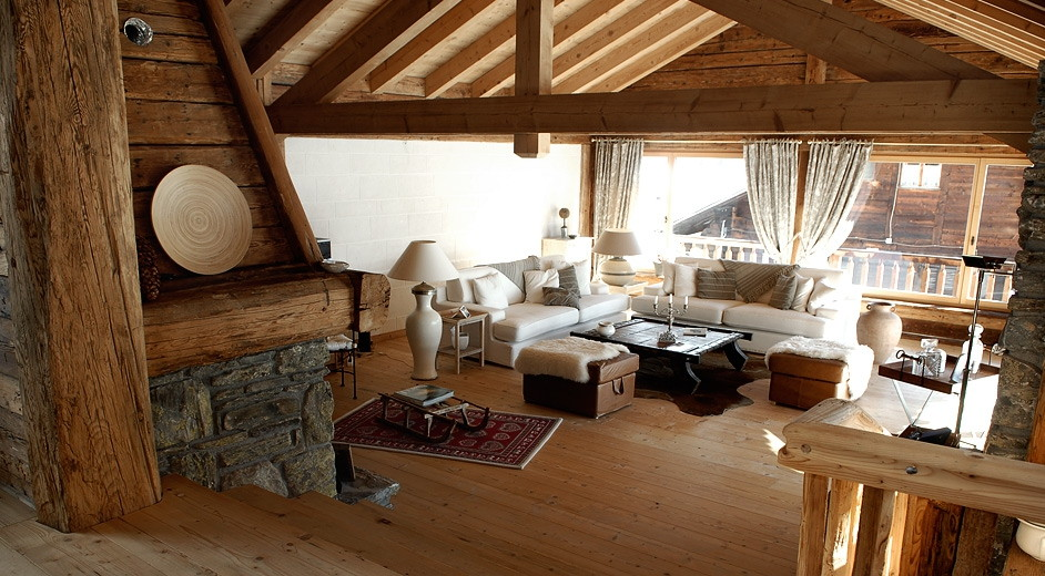star modern rustic chalet for rent in Champ233ry for large groups