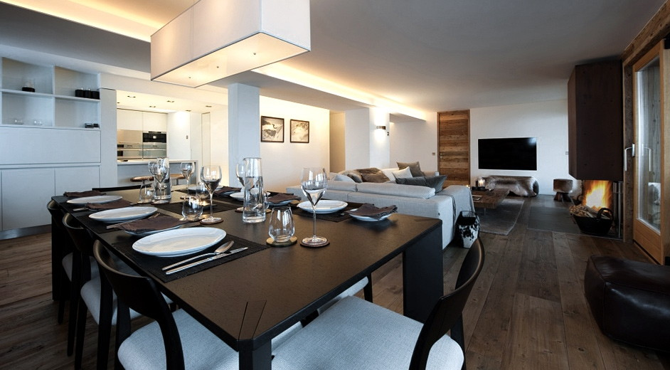Exclusive private apartment rental in verbier with mont for W living room verbier