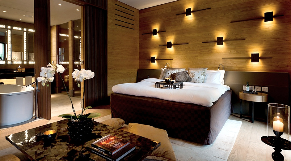 Exclusive 5 star design hotel in andermatt near ski lifts for 5 star bedroom designs