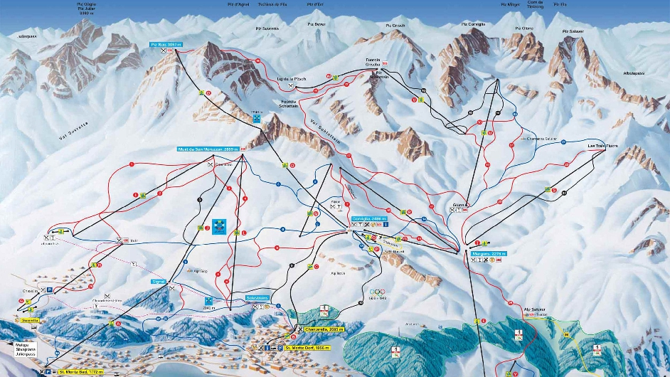 Ski slopes in St. Moritz – the most important information!